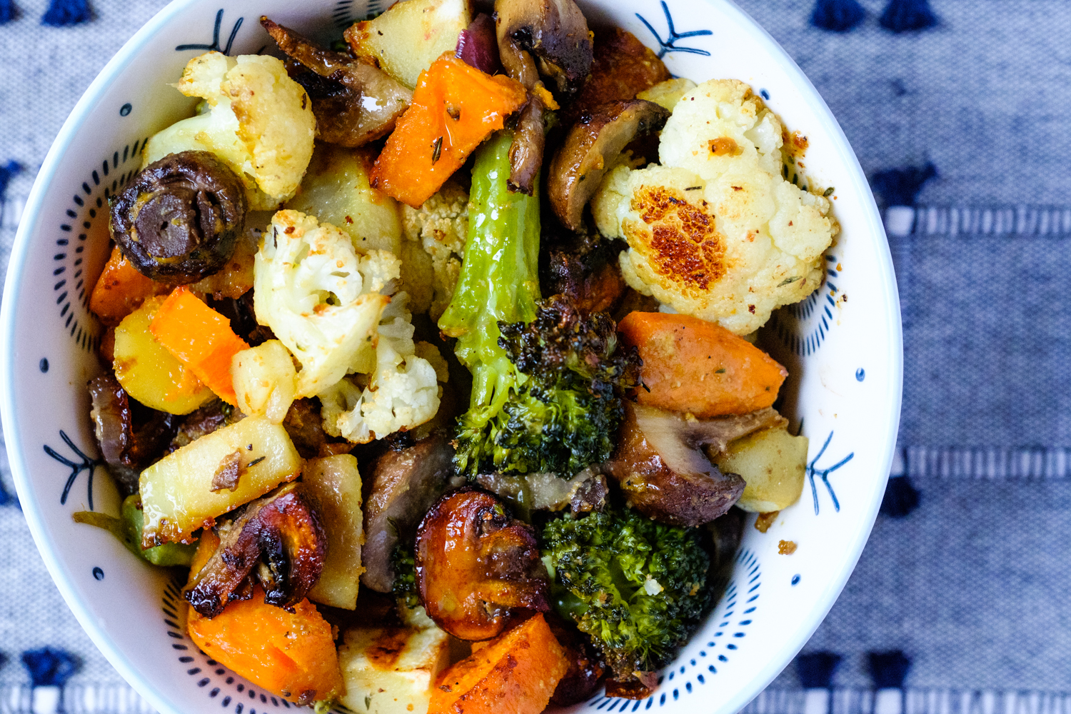 Easy Vegetable Medley in a bowl and ready to eat